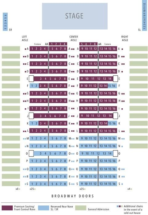 Trinity Seating Chart for Messiah